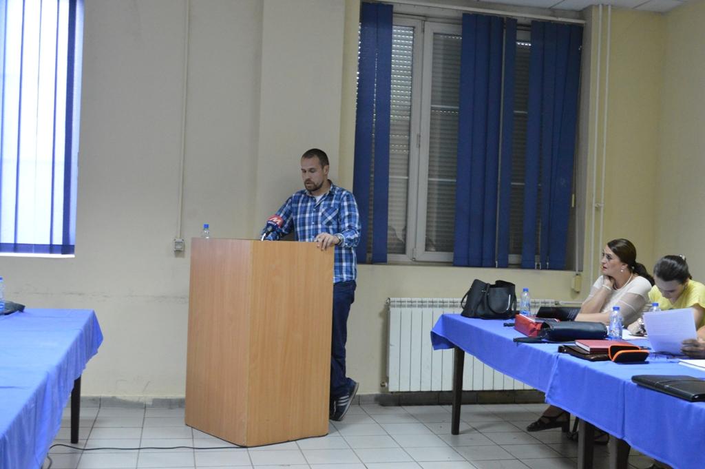 Foto: (KoSSev) Marko Jakšić na sednici SO Severna Mitrovica