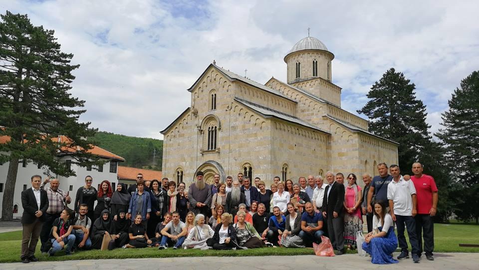 Manastir Visoki Dečani, tokom jedne od poseta vernika