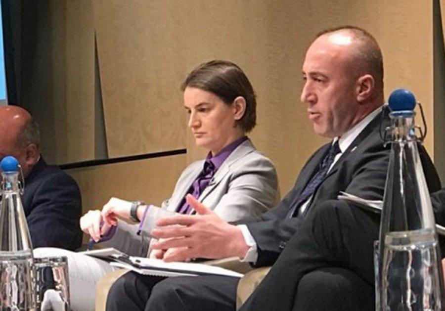 Srpska premijerka Ana Brnabić i kosovski premijer Ramuš Haradinaj