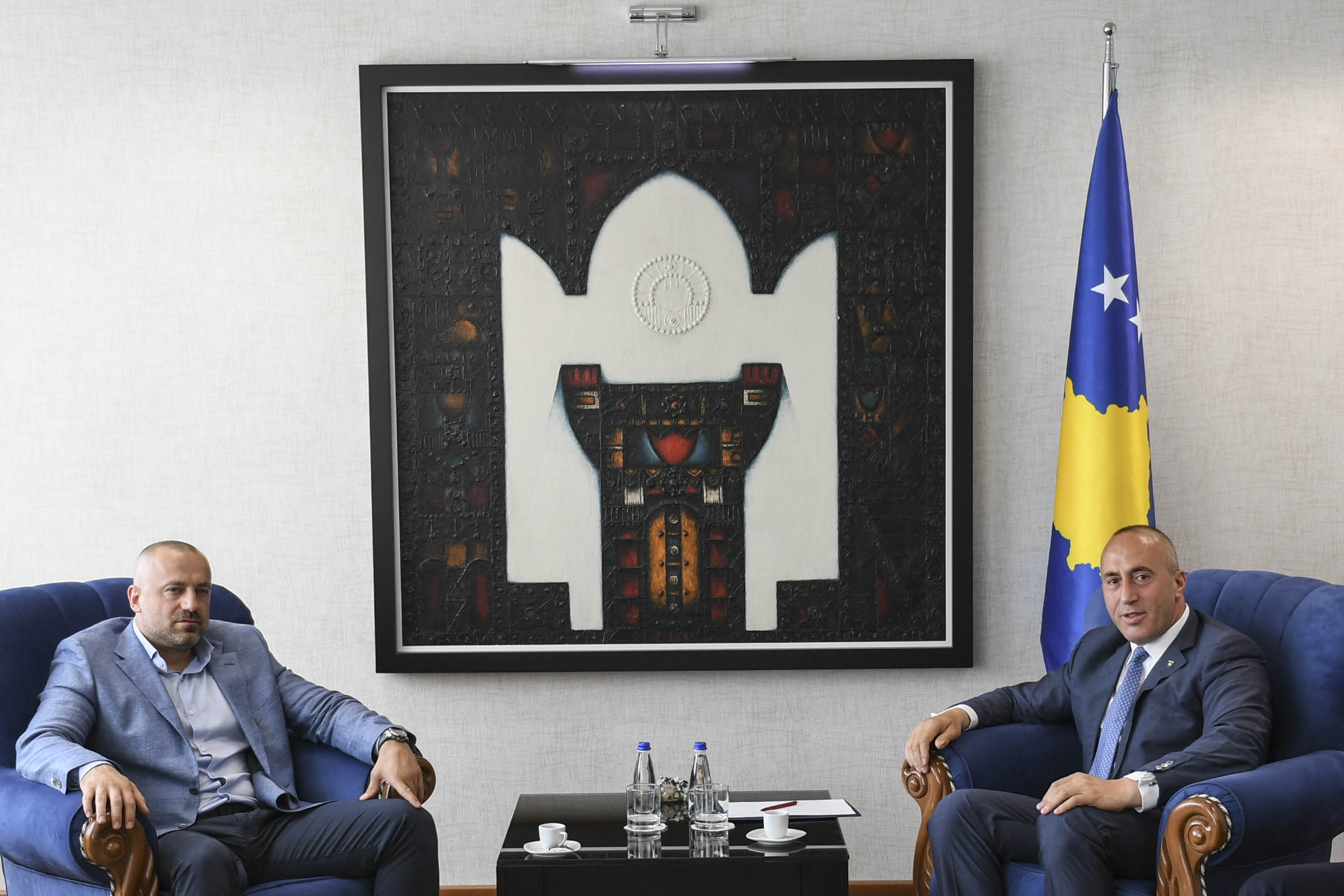 Potpredsednik Srpske liste Milan Radoičić i kosovski premijer Ramuš Haradinaj