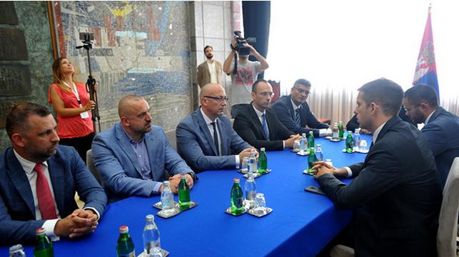 Najviši zvaničnici Srpske liste i Đurić danas u Beogradu, foto: Tanjug