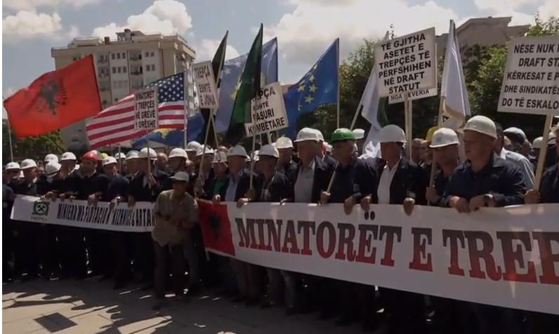 Protest radnika Trepče u Prištini