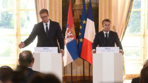 Aleksandar Vučić i Emanuelom Makron