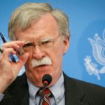 U.S. national-security adviser John Bolton speaks at a news conference in Kyiv on August 24.
