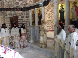 Vladika Teodosije u manastiru Banjska na Severu Kosova na slavi Sv. Stefana