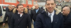 Selaković, Đurić, i potrepdsednik Srpske liste Milan Radoičić u Kosovskoj Mitrovici 26. marta, Foto: Kosovska Mitrovica
