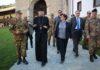 Arhimandrit Sava Janjić i visoka delegacija Italije