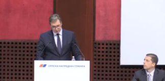 Aleksandar Vučić na sednici glavnog od bora SNS