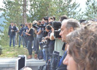 Novinari, Doček Vučića, Gazivode, FOTO: KoSSev