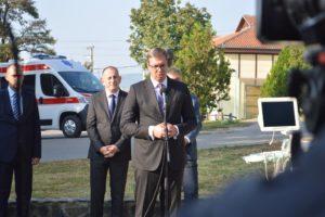 Vučić KBC Kosovska Mitrovica, FOTO: KoSSev