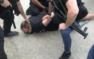 Milošević prilikom hapšenja u Prištini/ FOTO: Uprava policije Crne Gore