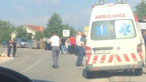 Blokada puta ka selu Banje, FOTO: Insajder