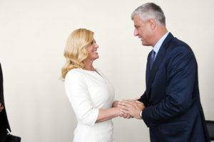Kitarović i Tači, Foto: Kosovsko predsedništvo