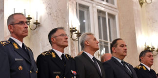 General Mojsilovic, second from left