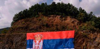Zastava Srbije na Gazivodama