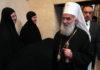 Patrijarha Irineja dočekuje sestrinstvo manastira Gračanica FOTO: RTV Kim