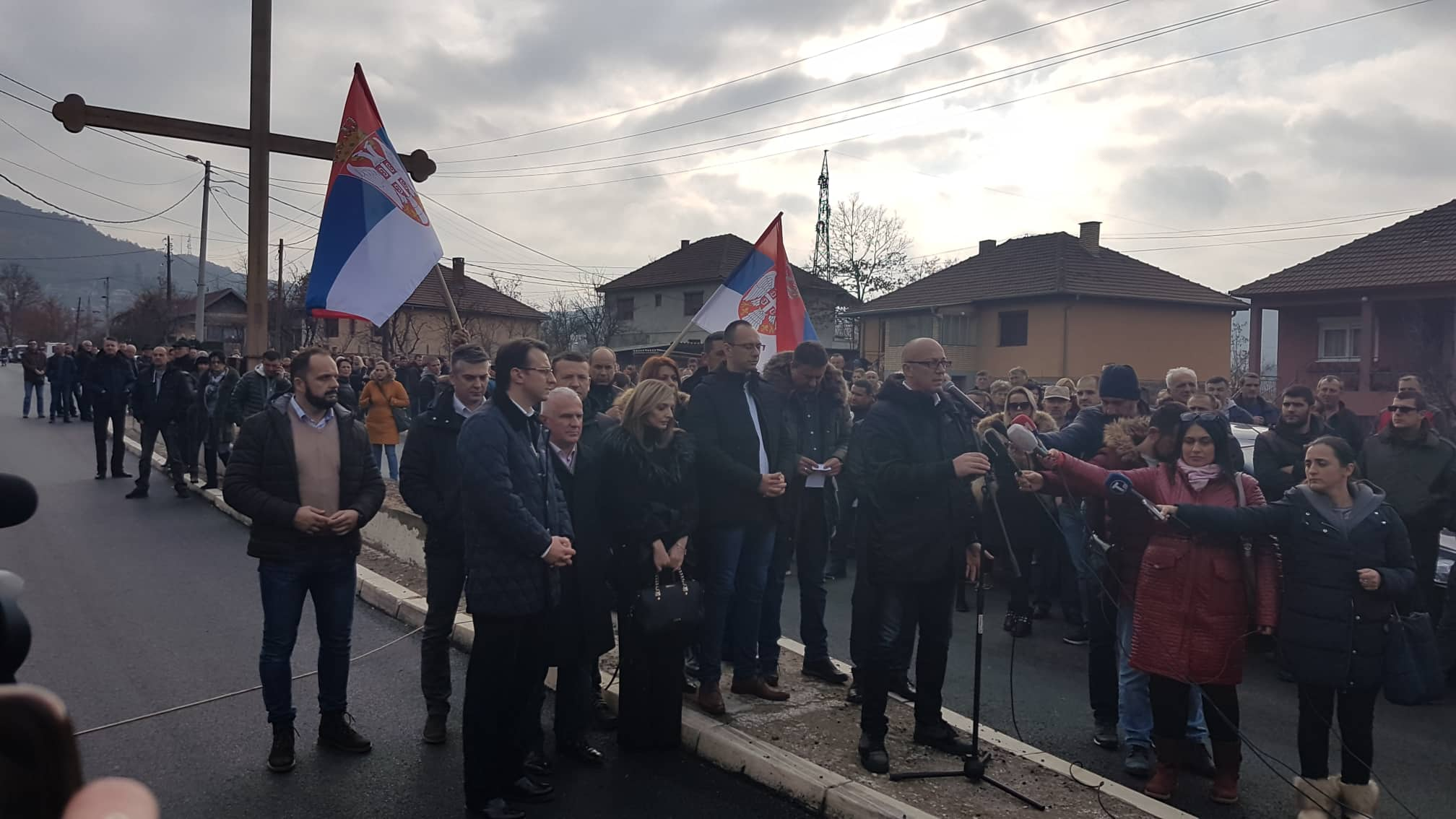 Protest u Rudaru, FOTO: KoSSev