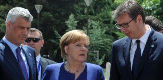 Vučić Merkel Tači