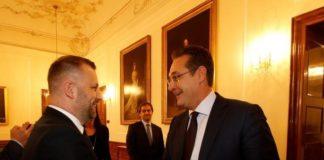 Dalibor Jevtić, zamenik premijera Kosova i Hans Kristijan Štrahe, vice-kancelr Austrije