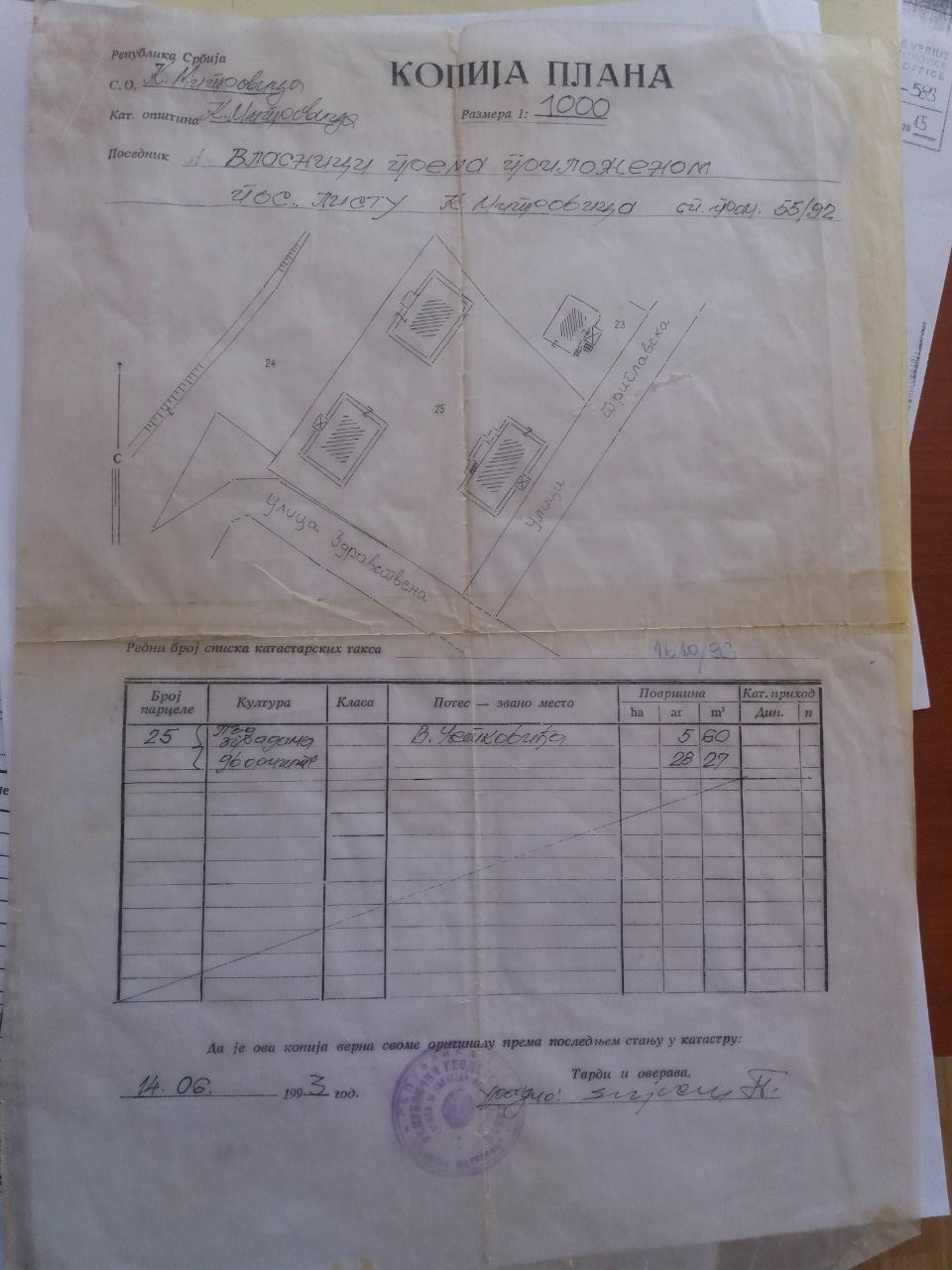 Građani pišu: Vlasnici prema priloženom posedovnom listu 5592