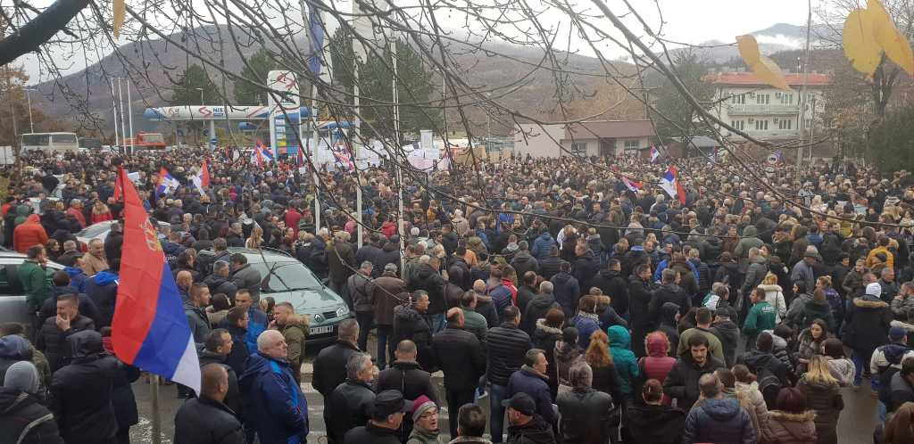 Protest Kosovska Mitrovica 27.11.2018.