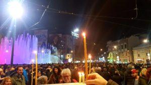Pljenje sveća - Memorijalna šetnja za Olivera Ivanovića - 16.1.2019.