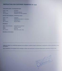 Tamara Lazović račun