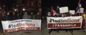 Proteset Gračanica Mitrovica Jedan od pet miliona