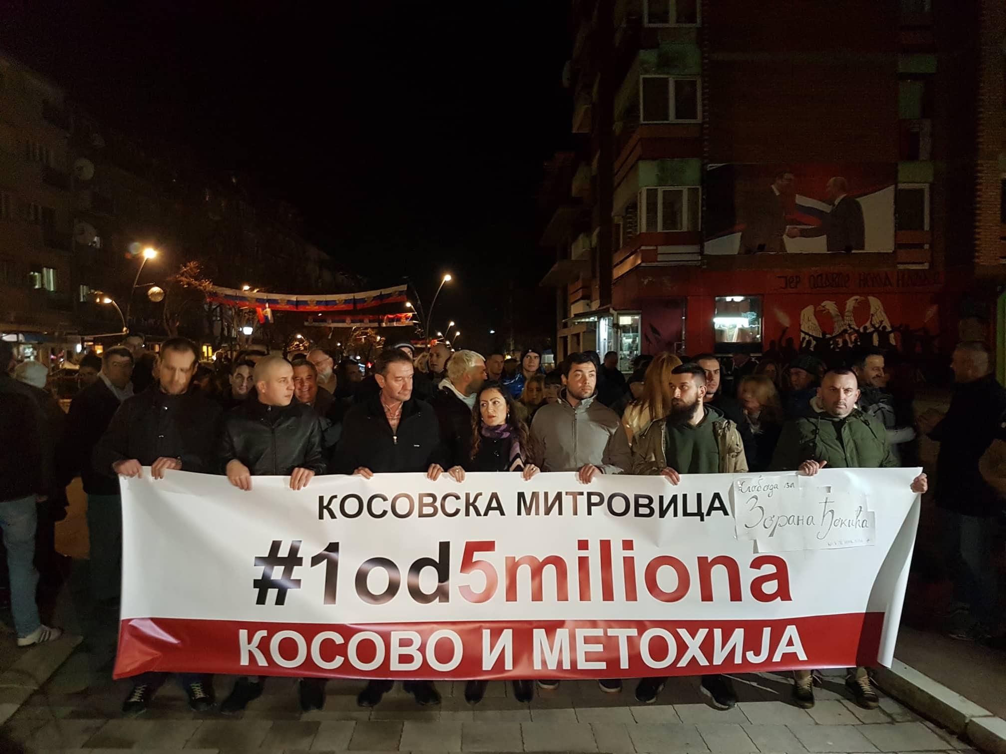 protest Kosovska Mitrovica
