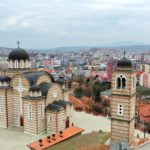 Kosovska Mitrovica, Crvkva Sv. Dimitrija, grad, panorama, dron
