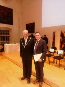 Profesor Stanišić sa predsednikom Evropske akademije za nauku i umetnost Feliksom Ungerom