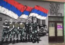 Grafit posećen srpskim vojnicima iz bitke na Košarama u severnoj Mitrovici
