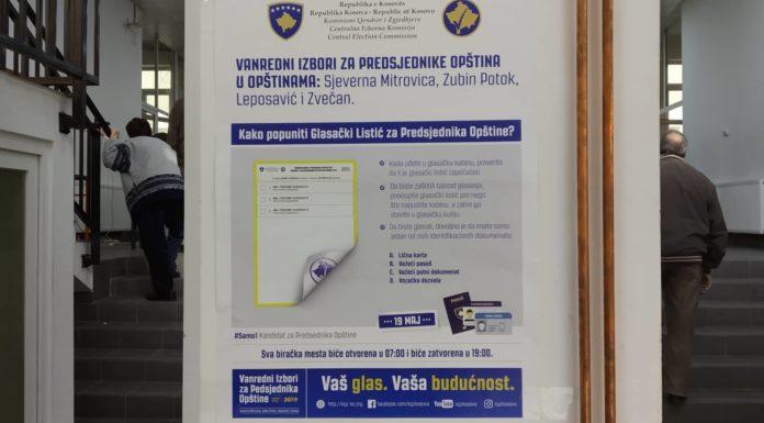 Lokalni izbori za gradonačelnika 2019 Kosovska Mitrovica,