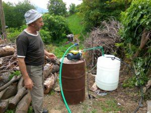 Bresnica, pumpa kod izvora