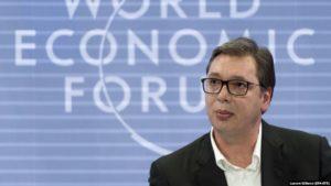 Predsjednik Srbije, Aleksandar Vučić tokom prošlogodišnjeg učešća na Svjetskom ekonomskom forumu