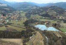 Veštačko jezero u selu Vuča