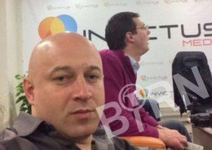 Zvonko Veselinović i Andrej Vučić u prostorijama firme Invictus, Foto: BIRN