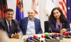 Ljutfi Haziri, Isa Mustafa, Vjosa Osmani