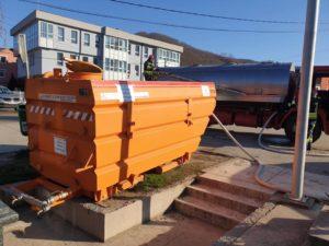 Cisterna sa sredstvom za dezinfekciju