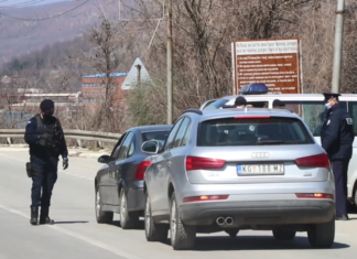 Punkt zabrana kretanja Mitrovica zvečan