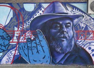 Mural sa likom Vasilja Adžića