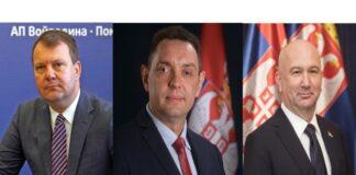 Igor Mirović Aleksandar Vulin Nenad Popović