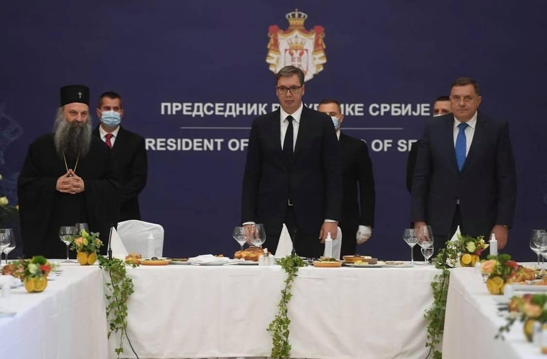 Vučić sa patrijarhom i episkopima