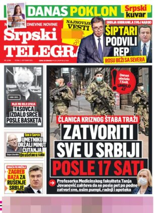 naslovnice srpski telegraf