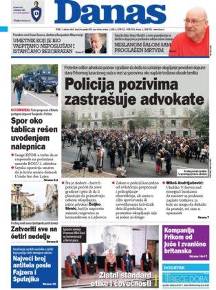 naslovnice Danas